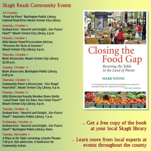 Skagit Reads Schedule of Events